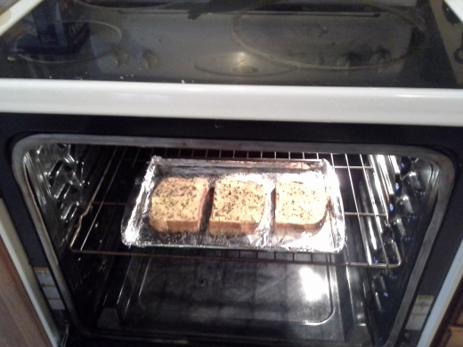 Step Six: Set your oven to low broil, and broil your toast for 10 minutes