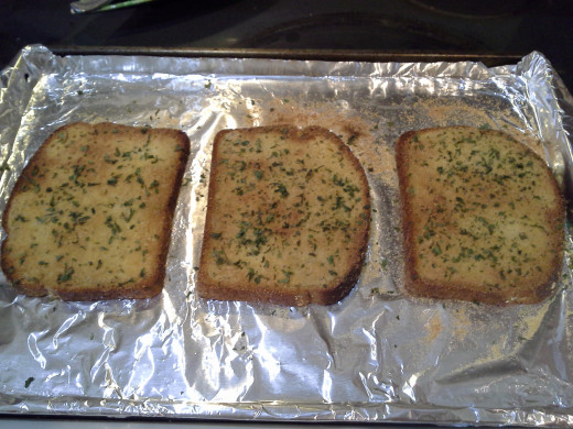 Step Seven: When you see your toast start browning, you know it's ready