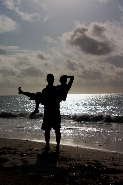 Image of couple on the beach