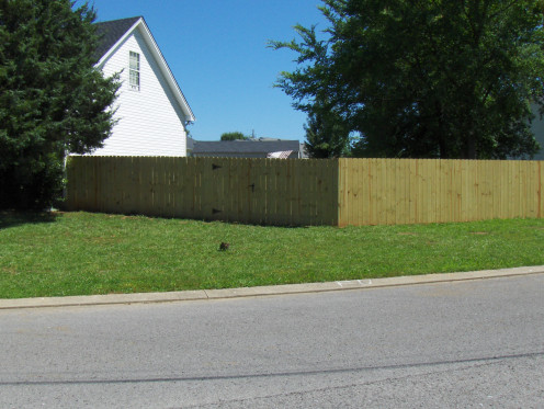 A wood fence looks a natural part of your property!