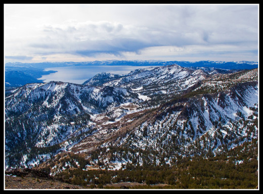 Lake Tahoe viewed from the summit of Mount Rose