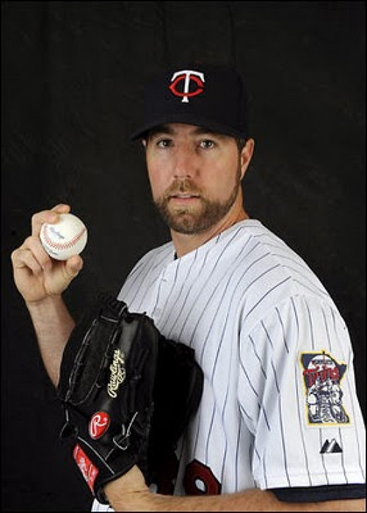 R.A. Dickey, MLB pitcher for Toronto Blue Jays, best-known for his famous knuckleball