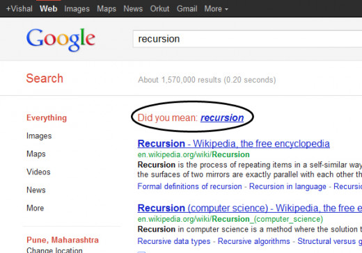 The Google trick- Recursion