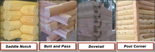 Corner Styles for Milled Log Homes