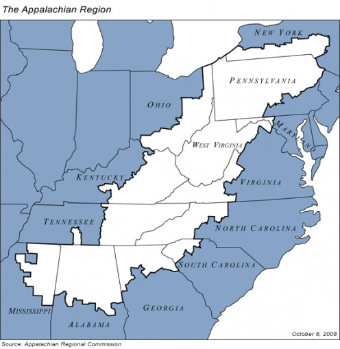 Map of Appalachia