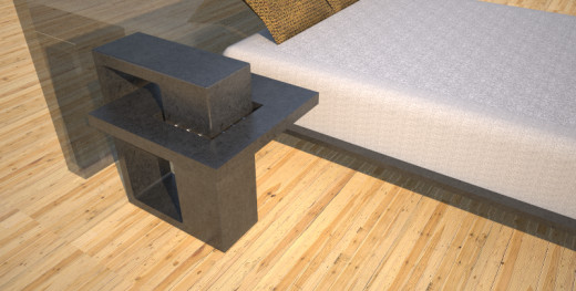 Side bed table designed and created by Designs by Rudy