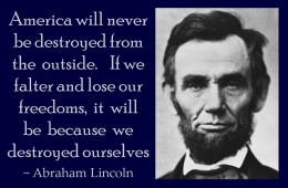Lincoln's warning