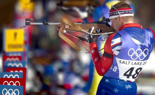 The biathlon is one of the stranger events at the Olympics.