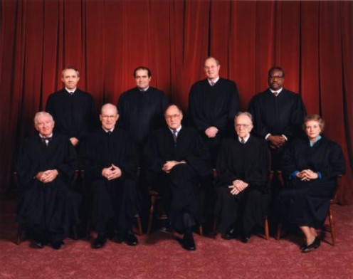 The Court: Chief Justice William H. Rehnquist and Associate Justices Byron R. White, Henry A. Blackmun, John Paul Stevens, Sandra Day O'Connor, Antonin Scalia, Anthony M. Kennedy, David H. Souter and Clarence Thomas.