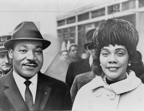 What a lovely looking couple, the Rev. Martin Luther King Jr., and wife Coretta Scott King. Image in the public domain. Taken 1964