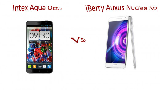 Intex Aqua Octa vs iBerry Auxus Nuclea N2
