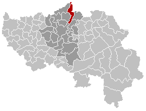 Map location of Visé, Liège province, Belgium