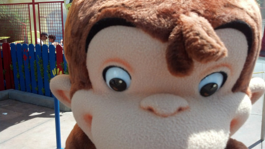 Curious George comes out to play.