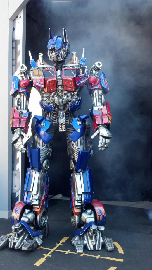 Optimus Prime visits the park.