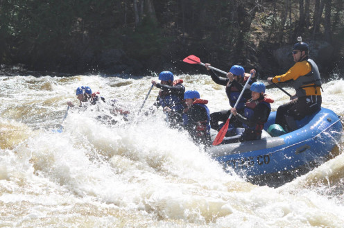 Our group hitting the Kennebec River. Or, is it the other way around? 2010
