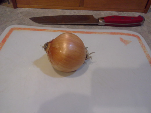 Step Six: Pull out your onion to chop