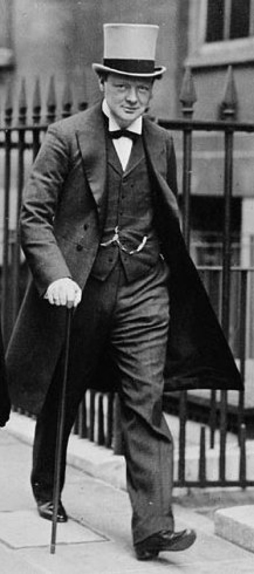 "World War One: Winston Spencer Churchill in 1911, a few months after he wrote ""Military Aspects of the Continental Problem"" and had become First Lord of the Admiralty."