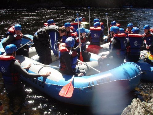 After placing your raft into the water, you'll wait for your fellow rafters to join you. You don't want to go alone! 2010