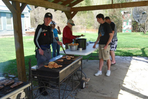 Grillin' up some lunch. 2010
