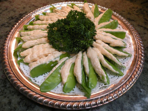 Set up a delicious appetizer display like this one.