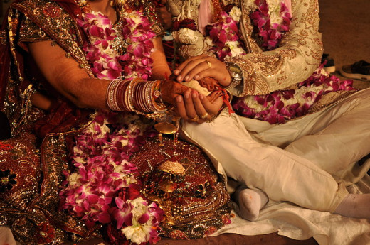 A Hindu wedding picture