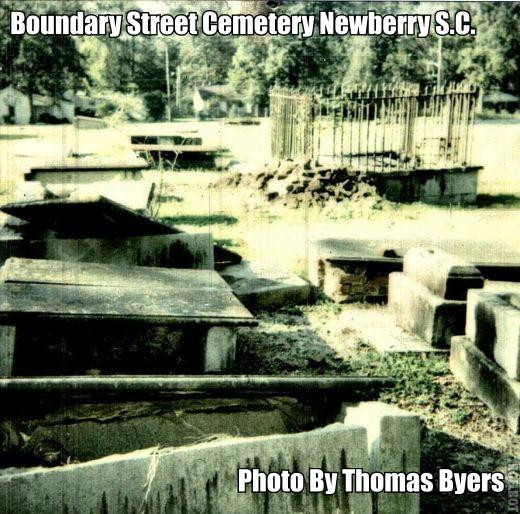 This is an old cemetery in Newberry S.C. across the road from the Boundary Street Elementary School.