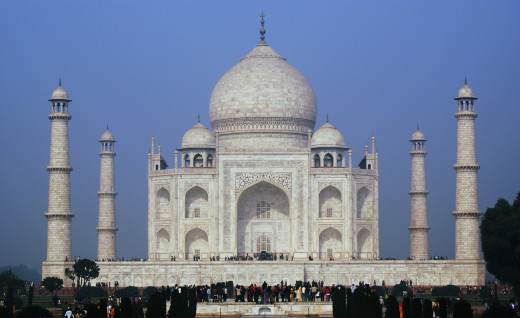 Taj Mahal the greatest example of beauty.