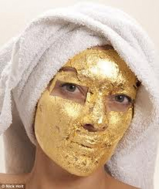 Gold is also used for facials