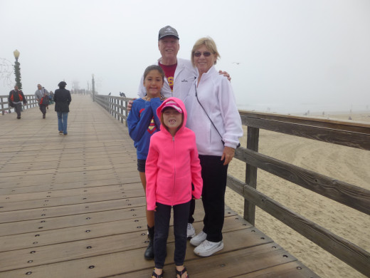 The grand-kids enjoyed a day on the pier with us.
