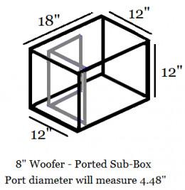 """8'"""" Woofer Sub-Box"""
