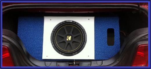 "KICKER 12"" Sub-Woofer in Custom Made Sub-Box"