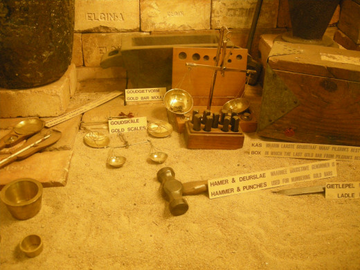 Tools used to mine in Pilgrims rest, South Africa