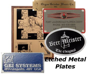 Etched Metal Nameplates