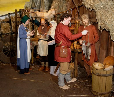 Jorvik fishmonger - you get the smells, talking and background noises