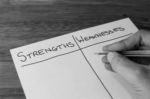 Know you strengths and weaknesses. Use them to succeed.