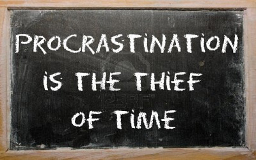 Procrastination is like a credit card. It's really fun until you get the bill.