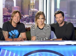 L to R: Keith Urban, J-Lo, Harry Connick, Jr.