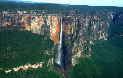 The Angel Falls In Venezuela.