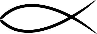 The typical fish symbol, as used by Christianity