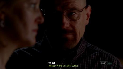 Walter stops making Meth