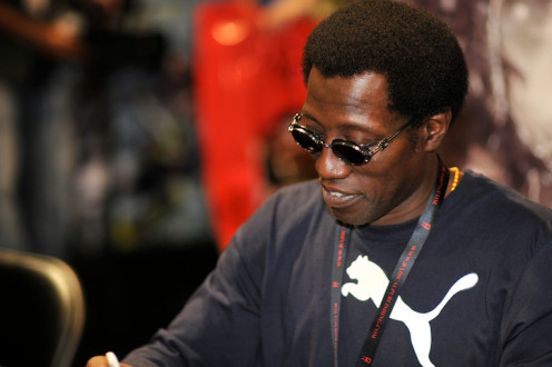 Wesley Snipes signing autographs at ComicCon 2010