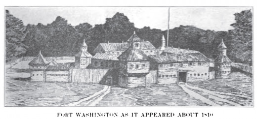 Drawing of Fort Washington located in what is now the City of Cincinnati