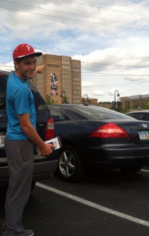 This young man is in college at age 16 and is only paying for parking.
