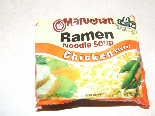 Ramen noodle soup.