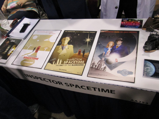 Inspector Spacetime booth at Wonder-COn
