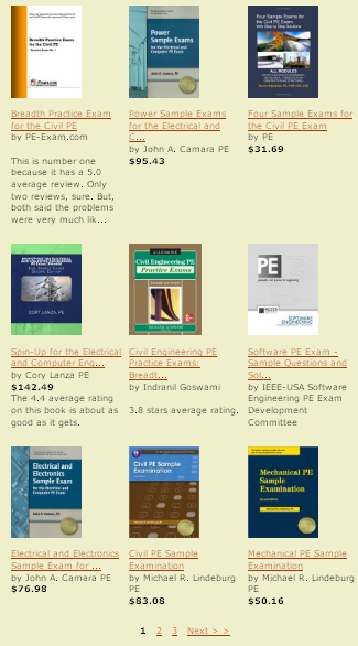 The best and most current PE exam review materials. The junk materials have been weeded out. Which books do you need for the PE exam? Which are the best? Which books give you an advantage? Which books will most examinees bring to the test sites?