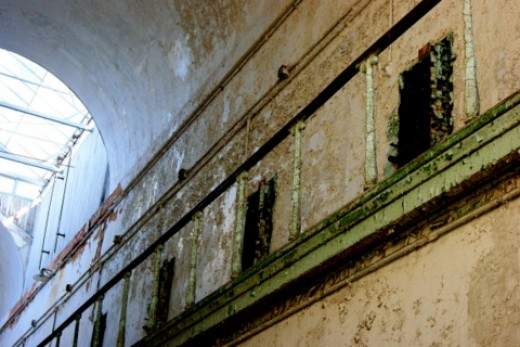 Early parts of the prison contained elaborate decor.