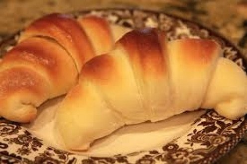 Crescent rolls can be made into rolls or rolled flat and made into toast.