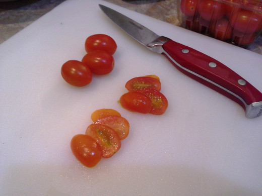 Step Two: Slice your tomatoes thin