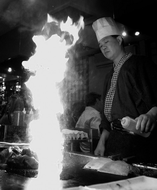 Teppanyaki-style Japanese restaurants are a fun date idea for Valentine's Day this year!